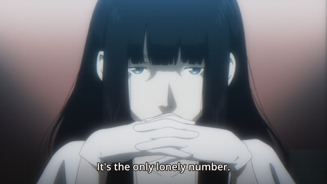 Subete ga F ni Naru: The Perfect Insider Anime Episode 1 notes - Magata Shiki likes numbers