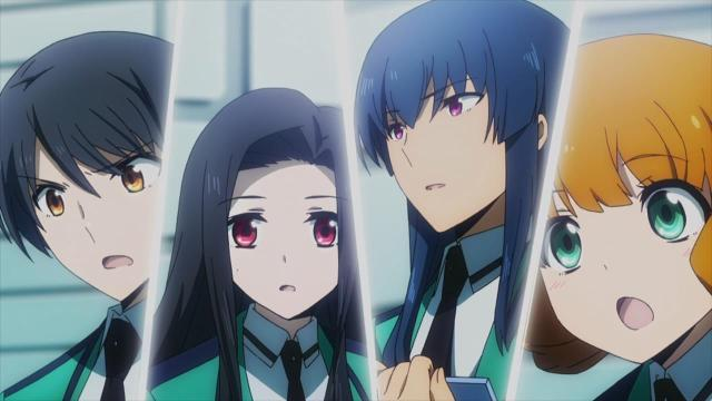 Mahouka Koukou no Rettousei anime episode 2 notes / The Irregular at Magic High School anime episode 2 notes - Saegusa Mayumi, Watanabe Mari, Nakajou Azusa, Kitayama Shizuku
