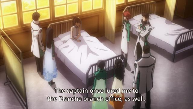 Mahouka Koukou no Rettousei / The Irregular at Magic High School episode 6 anime review - Mibu Sayaka in hospital bed