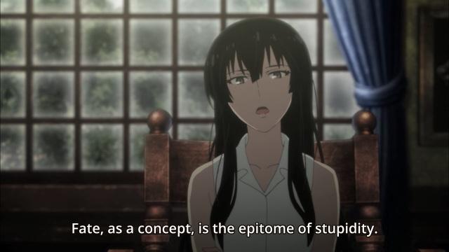 Beautiful Bones - Sakurako's Investigation/ Sakurako-san no Ashimoto ni wa Shitai ga Umatteiru anime episode 5 - Kujo Sakurako doesn't believe in fate