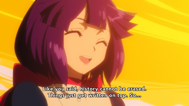 Concrete Revolutio: Choujin Gensou anime Episode 10 notes - Hoshijiro Kikko knows the past can't be erased
