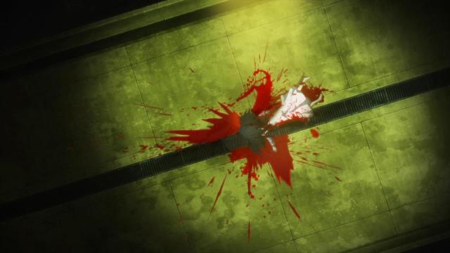 Kara no Kyoukai 1 / Garden of Sinners - Overlooking View / Fukan Fuukei anime A corpse in red and green