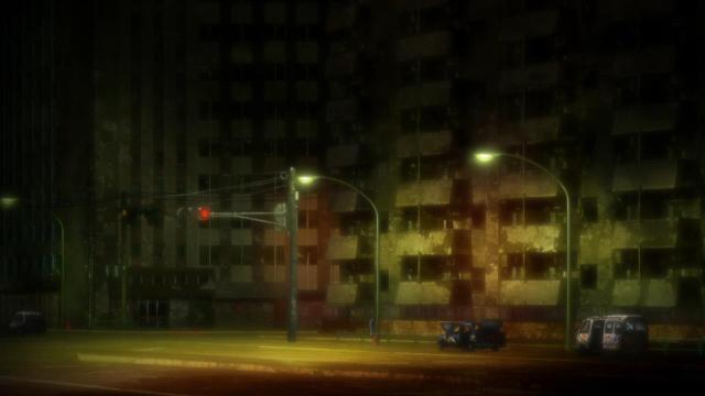Kara no Kyoukai 1 / Garden of Sinners - Overlooking View / Fukan Fuukei anime - Dilapidated buildings