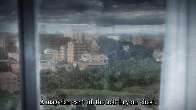 Kara no Kyoukai 4 / Garden of Sinners - The Hollow / Garan no Dou anime - Magic can't fix everything