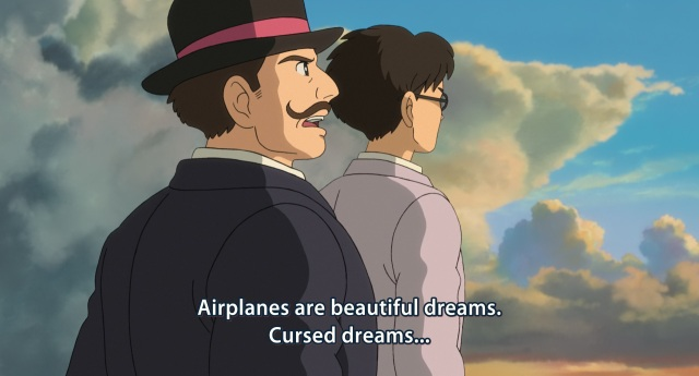 The Wind Rises / Kaze Tichnu - Caproni Giovanni tells Horikoshi Jirou that planes are cursed and beautiful dreams