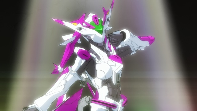 Active Raid anime episode 3 - Kazari Asami as a mecha idol