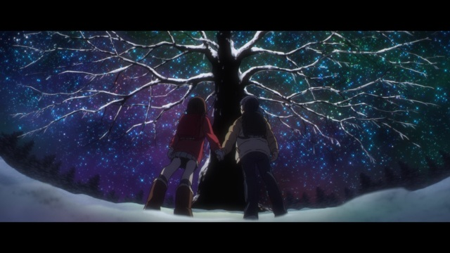 Boku dake ga Inai Machi / ERASED anime Episode 3 - Fujinuma Satorou and Hinazuki Kayo under the Christmas Tree