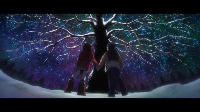 Boku dake ga Inai Machi / ERASED anime Episode 3 - Fujinuma Satorou and Hinazuki Kayo under the Christmas Tree