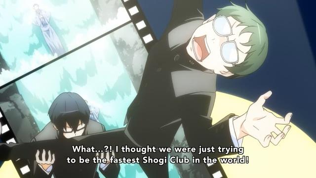 Prince of Stride: Alternative anime Episode 1 overview - Kadowaki Ayumu thought they were training for fast Shogi as Fujiwara Takeru checks out his biceps