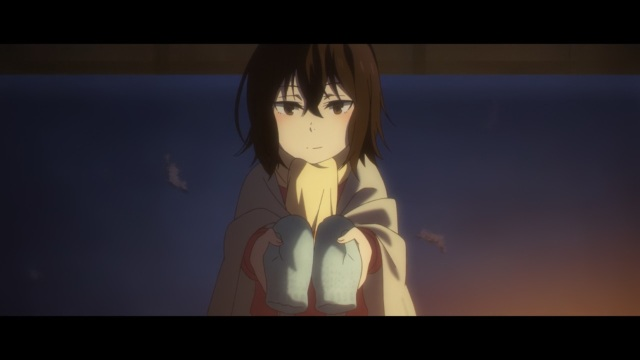 Boku dake ga Inai Machi / ERASED anime Episode 8 - Hinazuki Kayo hands Funjinoma Satoru his birthday gloves