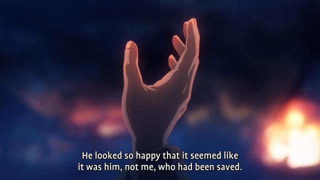 Fate/Zero anime / Fate/Stay Night anime - Kiritsugu Emiya speaking of saving Kiritsugu Shirou