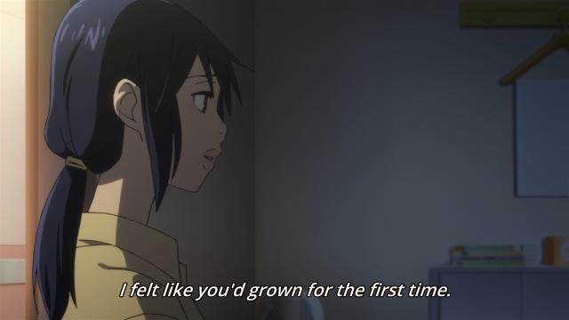 Boku dake ga Inai Machi / ERASED anime Episode 12 - Fujinoma Sachiko tells Fujinoma Satoru he's finally grown up