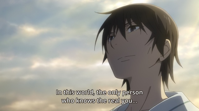 Boku dake ga Inai Machi / ERASED anime Episode 12 - Fujinoma Satoru tells Yashiro Gaku he's the only one who knows him