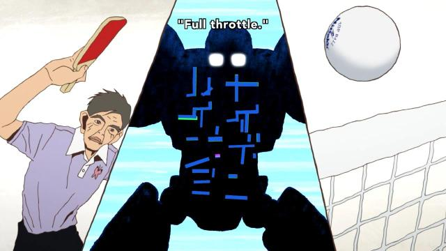 Ping Pong the Animation episode 2 notes - Coach Koizumi Jou and the full-throttle robot