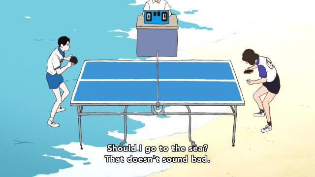 Ping Pong the Animation episode 3 notes - Tsukimoto Makoto / Smile on the beach