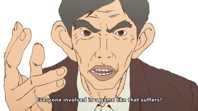 Ping Pong the Animation episode 4 notes - Coach Koizumi Jou on bad games