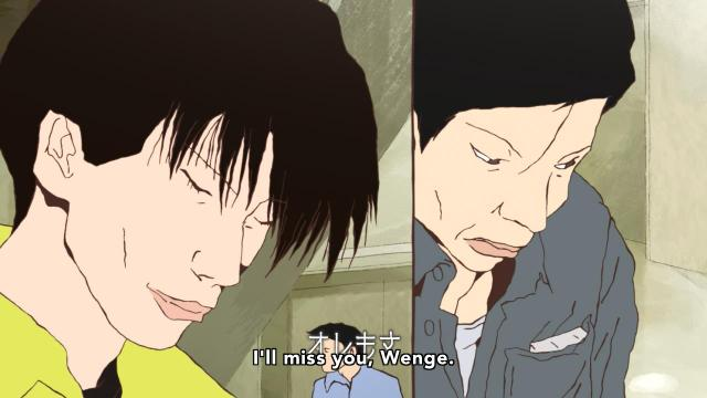 Ping Pong the Animation episode 5 notes - Kong Wenge says goodbye to his coach