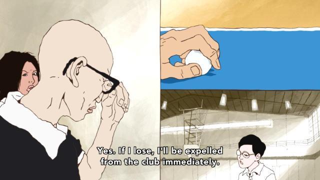 Ping Pong the Animation episode 5 notes - Sakuma Manabu / Akuma will commit Seppuku