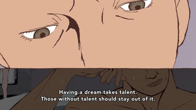 Ping Pong the Animation episode 6 notes - Kazama Ryuichi speaks of reality and dreams