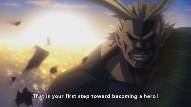 Boku no Hero Academia anime / My Hero Academia anime episode 3 - All Might on taking the first step toward becoming a hero!