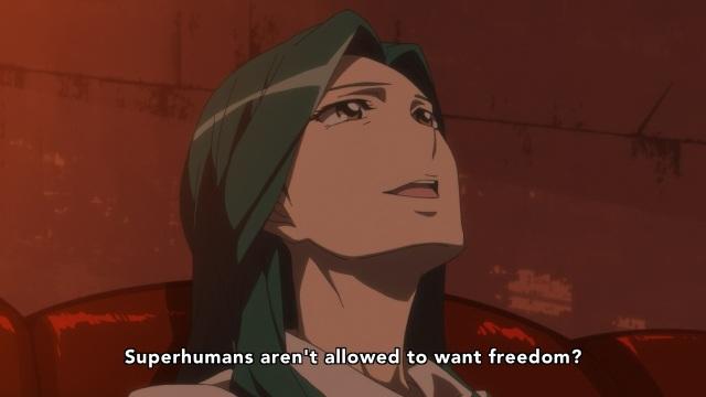 Concrete Revolutio: Choujin Gensou anime Episode 15 notes - Haruka Aki wants to be a free superhuman