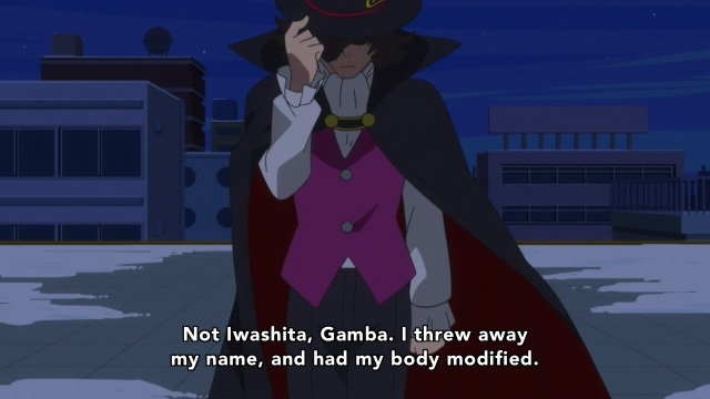 Concrete Revolutio: Choujin Gensou anime Episode 16 notes - Iwashita / Gamba left it all behind for success, for the country
