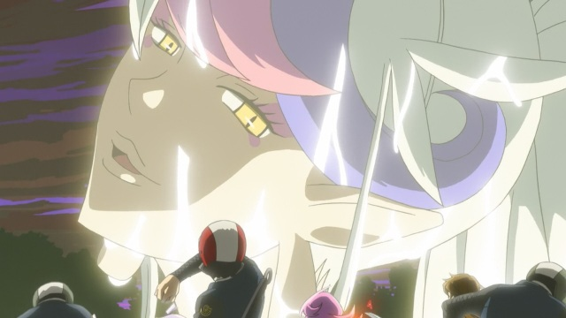 Concrete Revolutio: Choujin Gensou anime Episode 17 notes - Devila looks down on puny humans