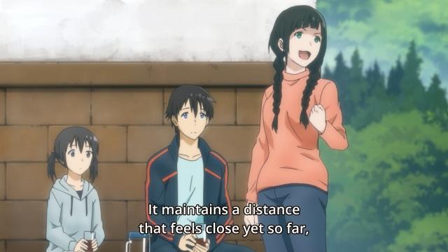 Flying Witch anime episode 3 - Kowata Makoto speaking of the future