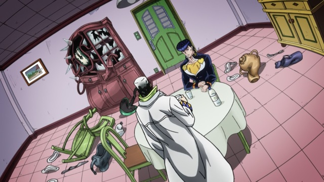 JoJo's Bizarre Adventure Part 4 Diamond Is Unbreakable anime episode 2 - Higashikata Jousuke and the Escher house