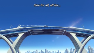 Kiznaiver anime episode 1 - Visuals, blue bridge