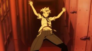 Kiznaiver anime episode 1 - Visuals, falling Agata Katsuhira