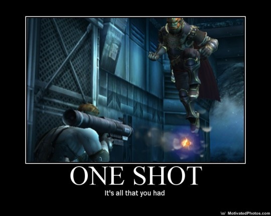 One shot meme/motivational poster