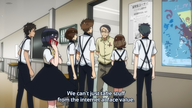 Gatchaman Crowds anime episode 3 - Teachers against the internet