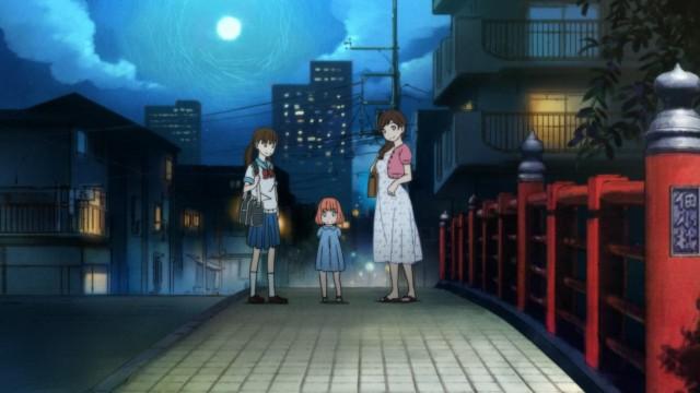 3-gatsu no Lion anime / March Comes in Like a Lion anime / Sangatsu no Lion anime Episode 1 - Kawamoto Hinata, Akari and Momo bid Kirayama Rei good night