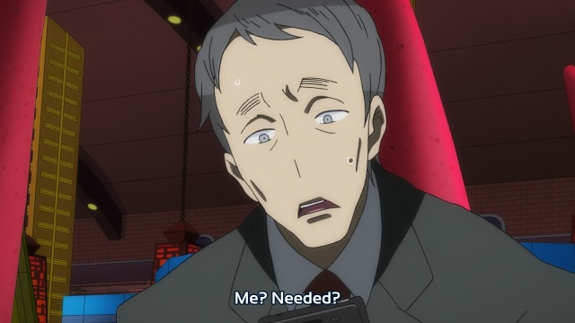 Gatchaman Crowds anime episode 11 - Prime Minister Sugayama feeling needed