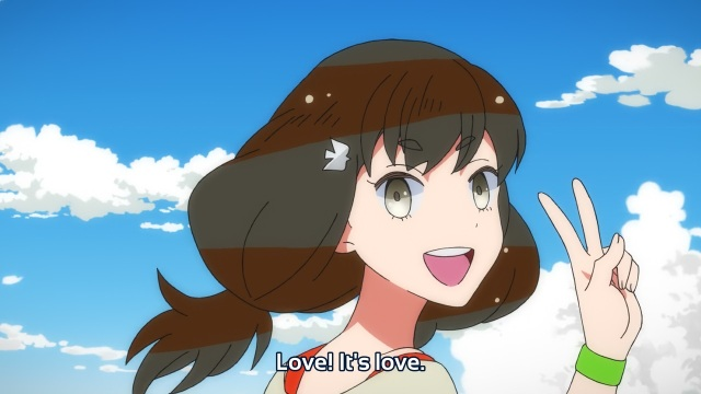 Gatchaman Crowds anime episode 8 - Ichinose Hajime exclaiming love is everything