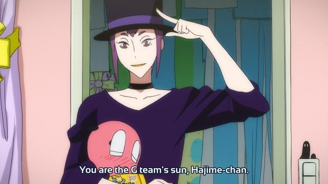 Gatchaman Crowds anime episode 9 - OD calling Hajime their sun.