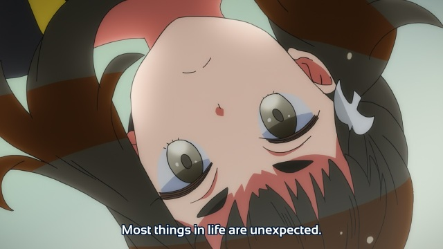 Gatchaman Crowds anime episode 9 - Ichinose Hajime noting life is unexpected