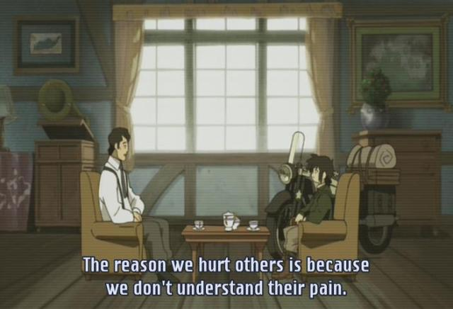 Kino's Journey anime episode 1 / Kino no Tabi anime episode 1 - Why we hurt others.